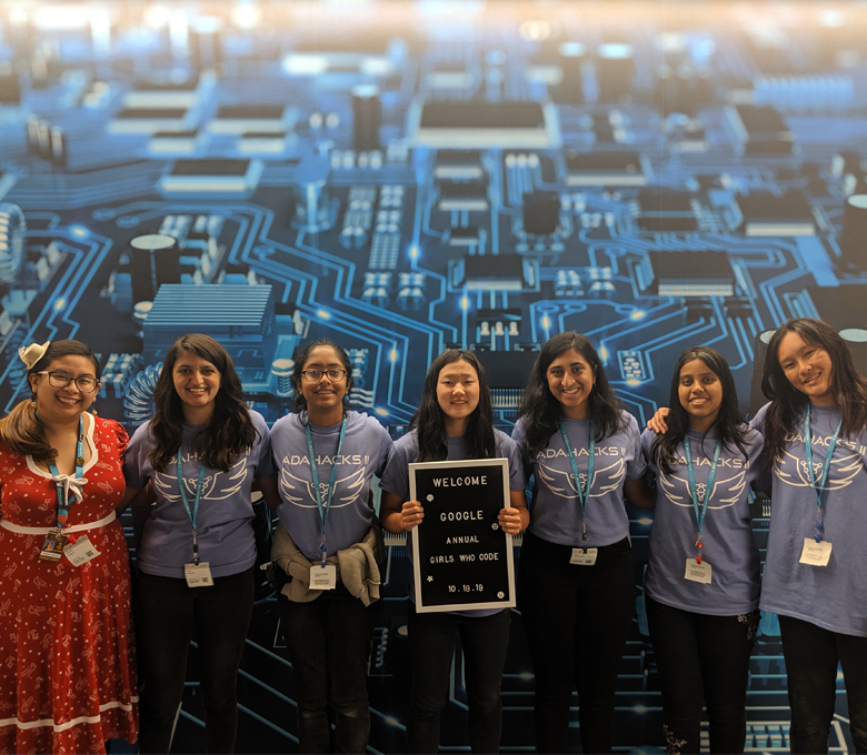 Girls Who Code members organize all-female hackathon